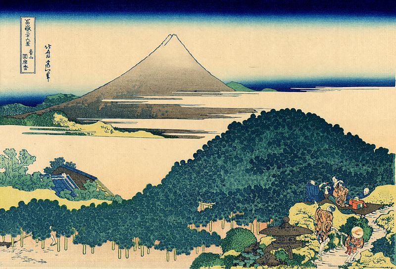 富嶽三十六景 青山圎座枩(あおやまえんざまつ)