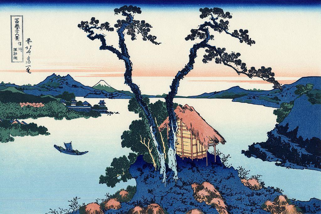 富嶽三十六景 信州諏訪湖(しんしゅうすわこ)